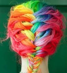 cabelos de revista de franjas