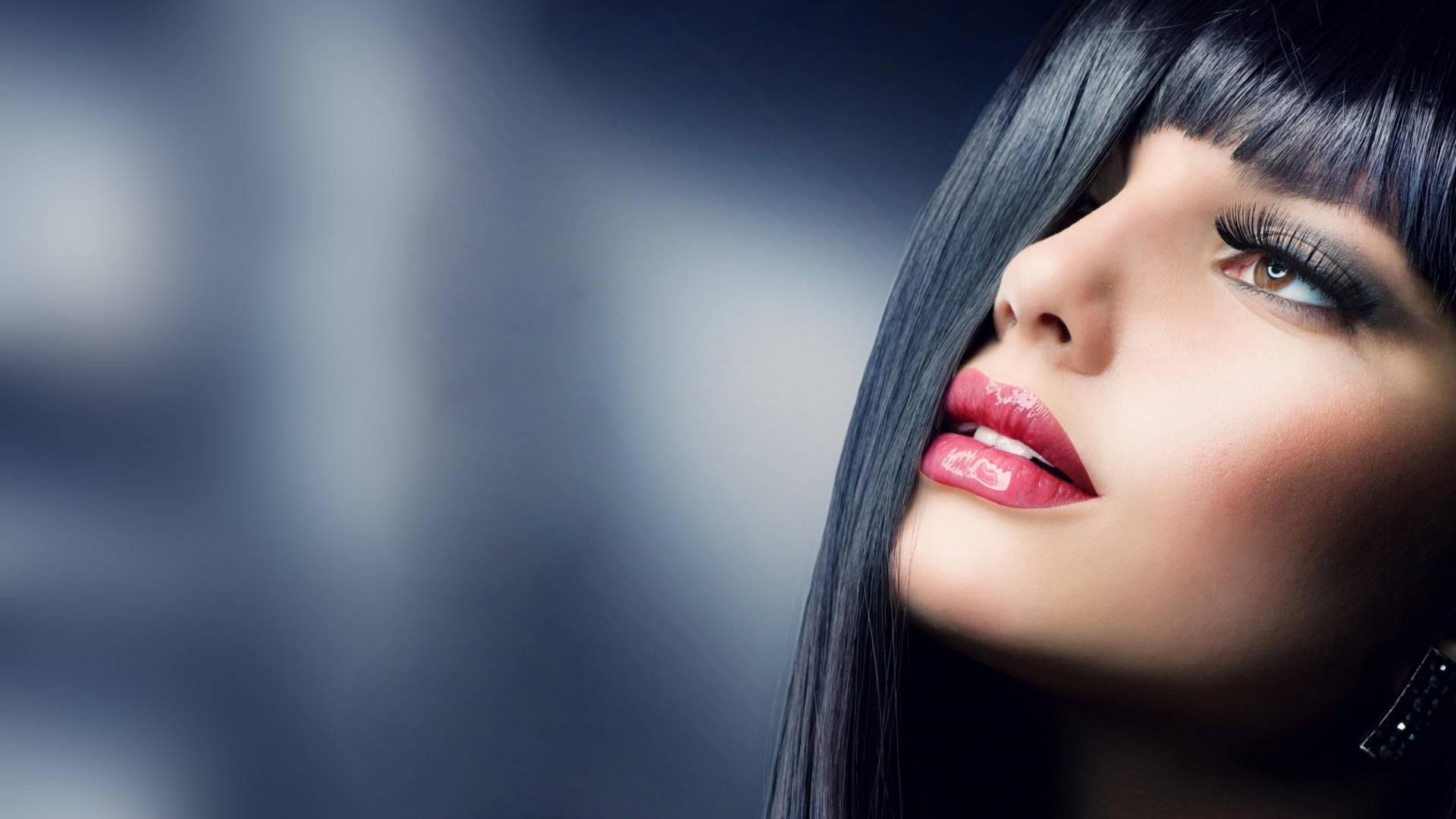 Wallpaper Face Women Model Black Background Looking: LISO PERFEITO PROGRESSIVA ROSA PERFEITA. Passo A Passo Da